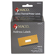 MACO Direct Thermal White Address Labels
