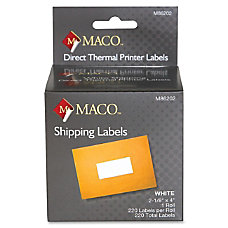 MACO Direct Thermal White Shipping Labels