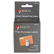 MACO Direct Thermal White Multi purpose
