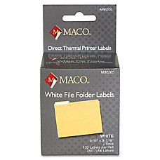 MACO Direct Thermal White File Folder