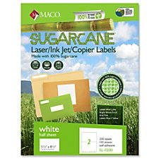 Maco Printable Sugarcane Mailing Labels 550