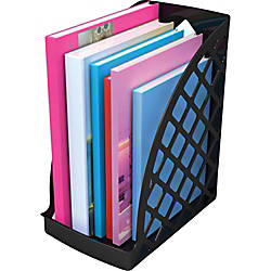 deflecto Recycled Plastic Magazine Files Black