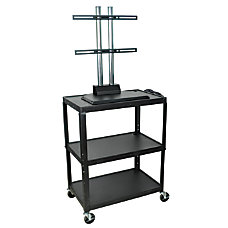 Luxor Height Adjustable Steel AV Cart