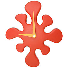 LumiSource Mini Splat Clock Red