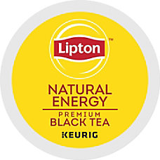 Lipton Natural Energy Tea Caffeinated Black
