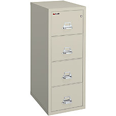 FireKing 25 Vertical File 4 Drawer