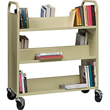 Lorell Double sided Book Cart 6