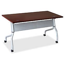 Lorell Mahogany Flip Top Training Table