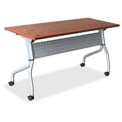 Lorell Cherry Flip Top Training Table
