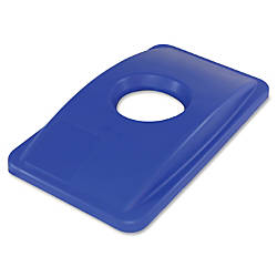 Thin Bin Round Cut Out Blue