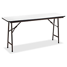 Lorell Gray Folding Banquet Table Rectangle