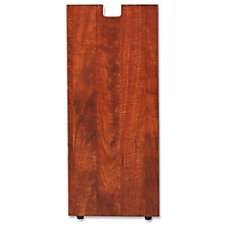 Lorell Cherry Laminate Credenza Leg Rectangular