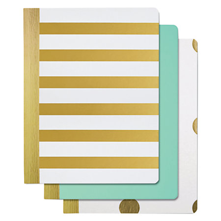 """Divoga® Gold Struck Composition Book, 7 1/2"""" x 9 3/4"""", 1 Subject, College Ruled, 160 Pages, Assorted (No Color Choice)"""