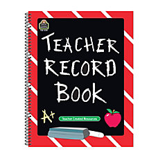 Teacher Created Resources Chalkboard Teacher Record