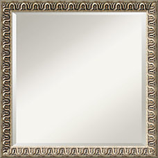 Amanti Art Argento Wall Mirror Square