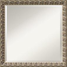 Amanti Art Argento Wall Mirror Square