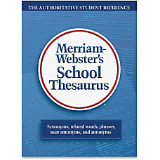 Merriam Websters School Thesaurus Hardcover