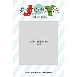 Photo Greeting Card Vertical Joy With