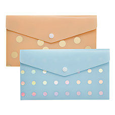 Divoga Poly Snap Check Envelope Whimsical
