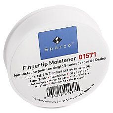 Sparco Fingertip Moistener Odorless Greaseless Stainingless