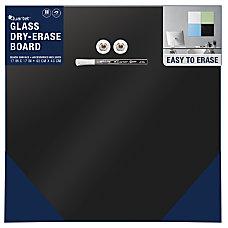 Quartet Frameless Magnetic Glass Dry Erase