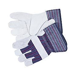 Memphis Split Leather Palm Gloves Gray