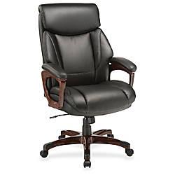 Lorell Executive Chair Black Mahogany Bonded