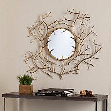 Southern Enterprises Branch Round Mirror 32
