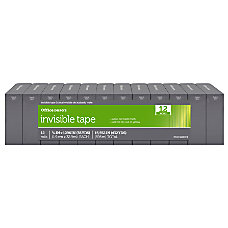 OfficeMax Invisible Boxed Tape 34 x