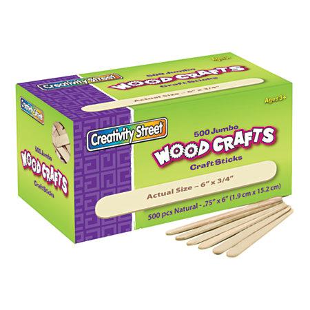 Creativity street wood crafts jumbo craft sticks 6 x 34 x for Kids crafts at home depot