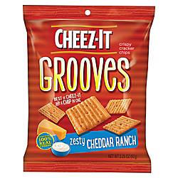 Cheez It Grooves reg Zesty Cheddar