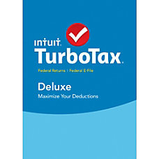 TurboTax Deluxe Fed Efile 2015 Mac