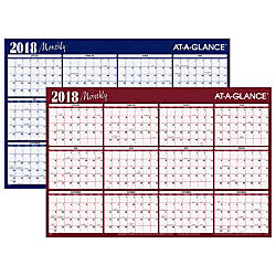 AT A GLANCE Yearly Erasable Wall