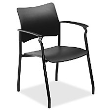 Lorell Stack Chair with Arms Plastic