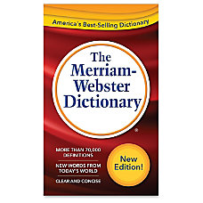 Merriam Webster Dictionary Dictionary Printed Book