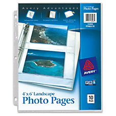 Avery Horizontal Photo Pages 3 ring