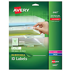 Avery Removable Lables Multipurpose 12 x