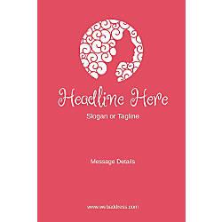 Custom Vertical Poster Pink Beauty
