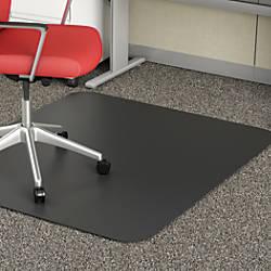 deflect o chair mat for medium pile carpet 36 w x 48 d black