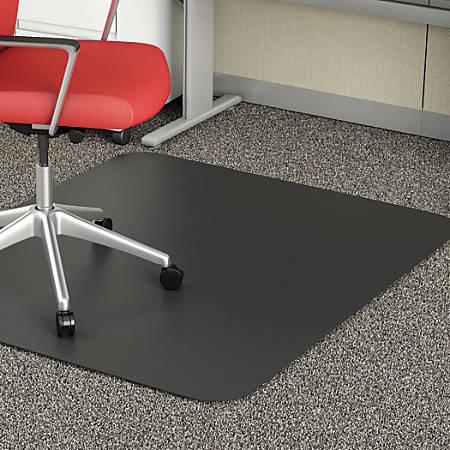 Deflect O Chair Mat For Medium Pile Carpet 36 W X 48 D Black By Office Depot