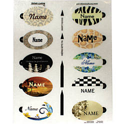 The Mighty Badge Oval Insert Sheet