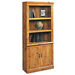 Sauder cottage home library with doors 71 14 h x 30 34 w x for Home depot office doors