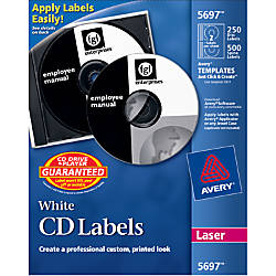 Avery CD Labels Removable Adhesive Length