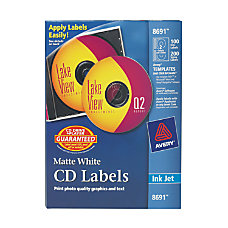 Avery Matte CD Label Permanent Adhesive