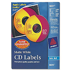 Avery Matte CD Label 2Sheet Circle