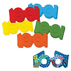 ChenilleKraft 100th Day Paper Fun Glasses