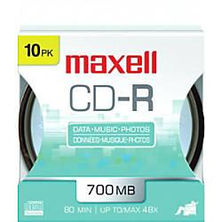 Maxell 48x CD R Media