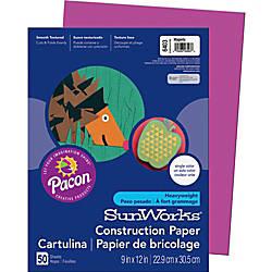SunWorks Groundwood Construction Paper 9 x