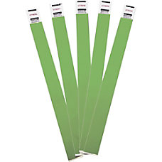 Advantus Tyvek Wrist Band Green Tyvek