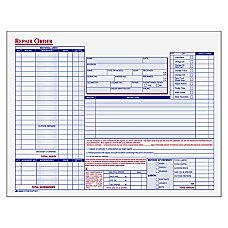 Adams Garage Repair Order Forms 3